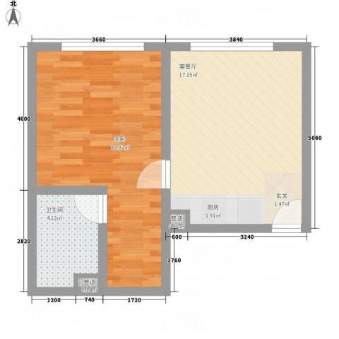瑞港商业广场公寓36.12㎡户型1室