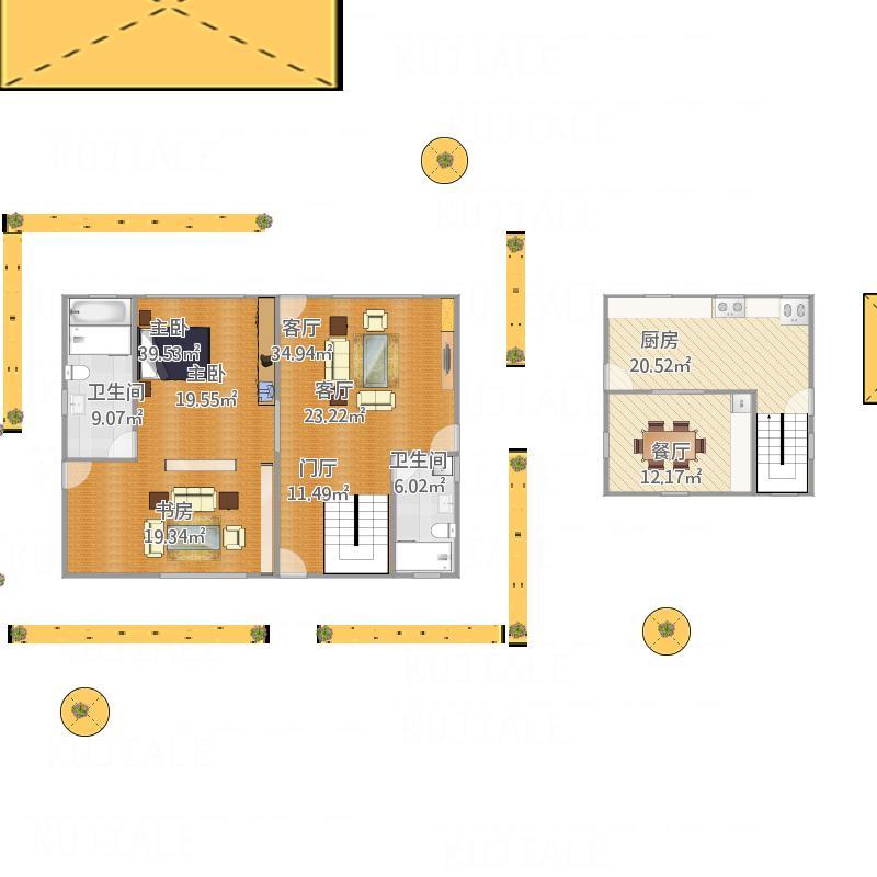 户型设计 小木屋-0727-12-04  浙江 杭州 未知小区 建筑面积:162平方