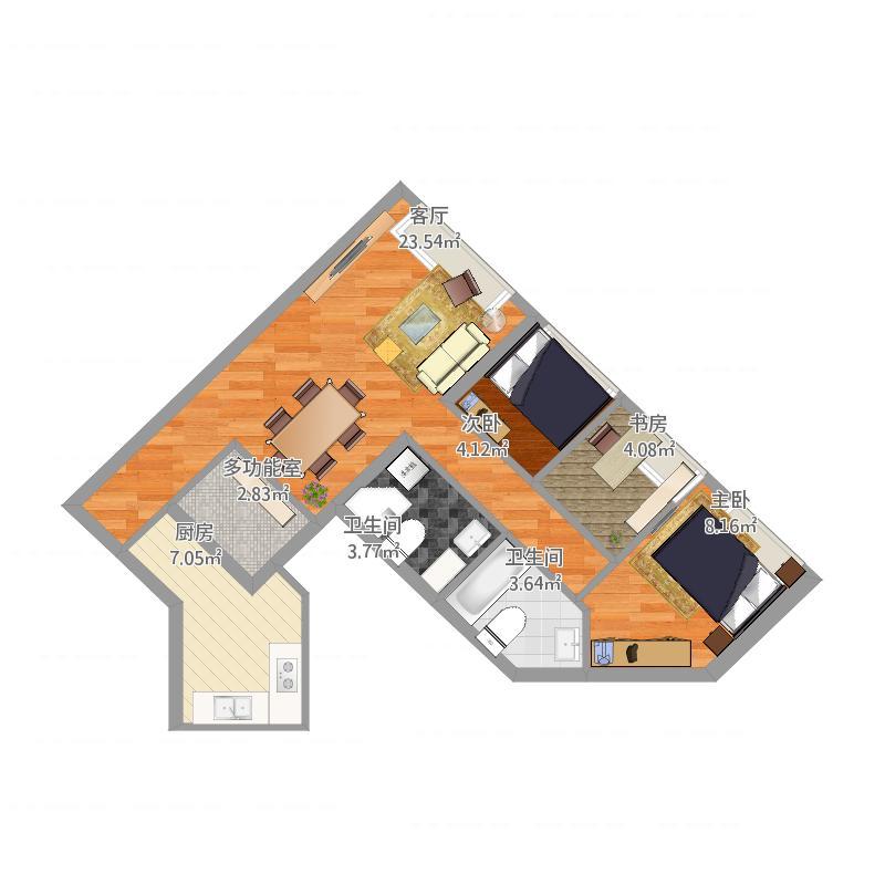 擎天半岛sorrento_3座15楼h室-副本户型图大全,装修图
