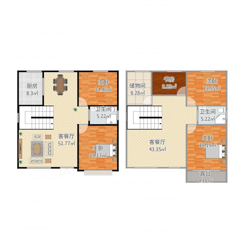 新农村自建房12.8x12.5米_设计图分享图片