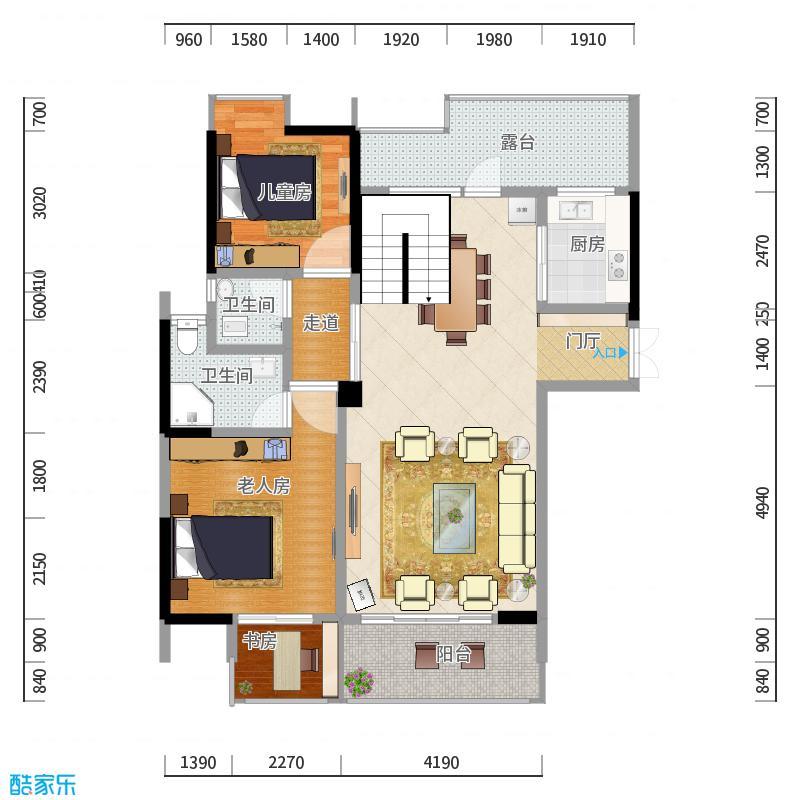 三人行室内设计工作室_施先生雅居工程_概览效果图
