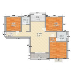 金桂湾123.56㎡9户型3室2厅2卫1厨