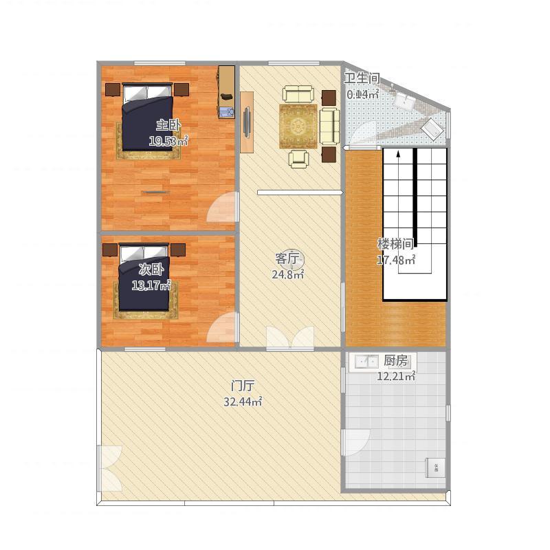 浙江 杭州 广州-自己家住房-设计方案 户型图