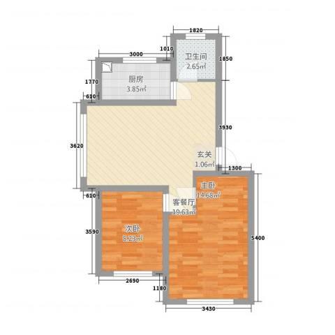 中央上城121165.20㎡户型2室1厅1卫1厨