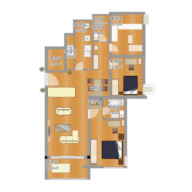 室内设计平面图2