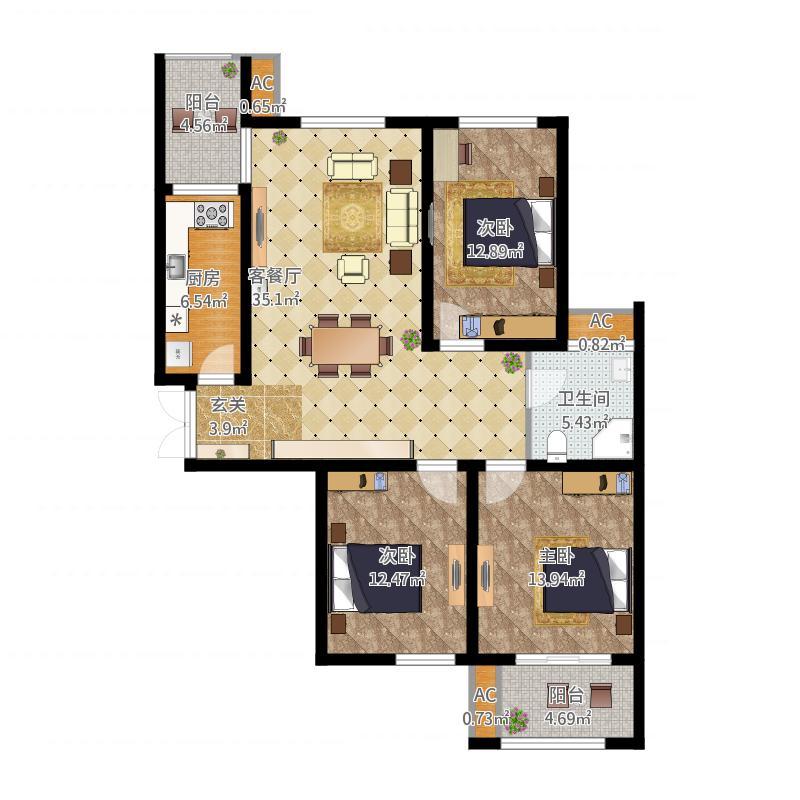 大家帮,三室一厅的房子看看如何做餐厅?