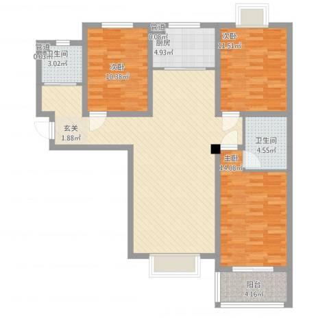 教授花园三期新里程73#-c-3室2厅2卫-约118M²