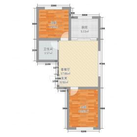 华城国际二期72.20㎡2户型2室1厅1卫