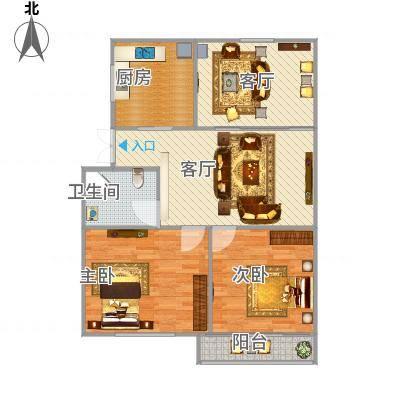 3室一厅一卫一厨-副本
