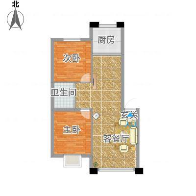 御湖国际88.00㎡户型3室2厅1卫-副本