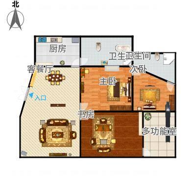 皇马郦宫三房两厅两卫
