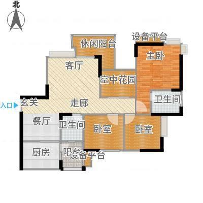 锦上华庭北区观苑109.92㎡二期4/5栋标准层3/5号房户型-副本
