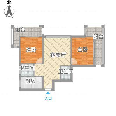 望京花园西区85.00㎡户型2室-副本