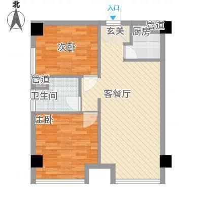 绿城绿园户型2室2厅1卫1厨-副本