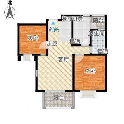 爵仕悦恒大国际公寓90.00㎡A22面积9000m户型-副本