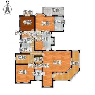 东郊半岛E二层户型4室4卫