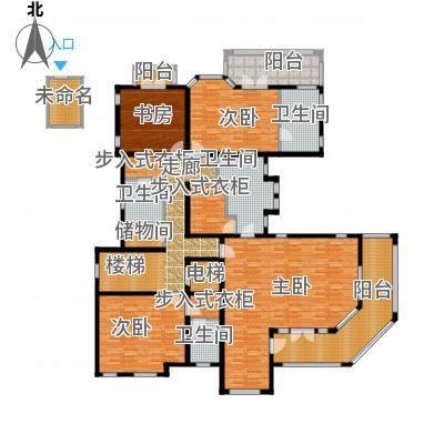 东郊半岛E二层户型4室4卫-副本