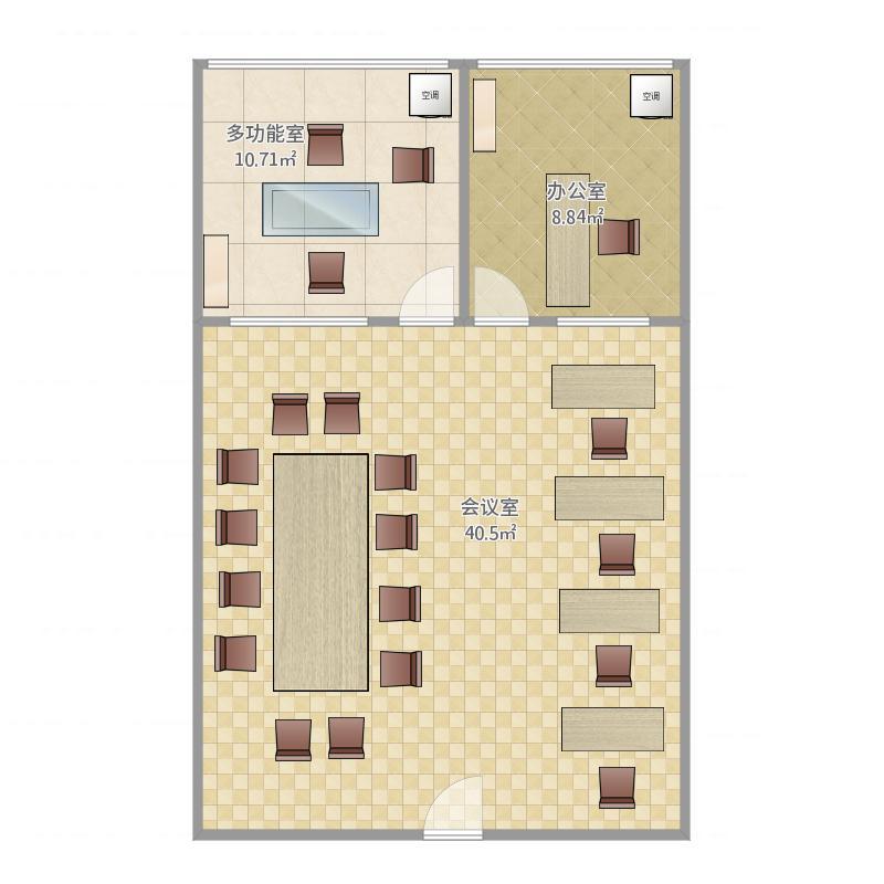 重庆 泰安大厦903室办公室平面图(1) 户型图
