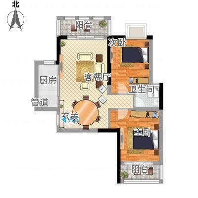 三航公寓户型2室2厅2卫1厨-副本