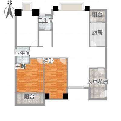 冠城美域B3户型三室三厅二阳台130.74㎡