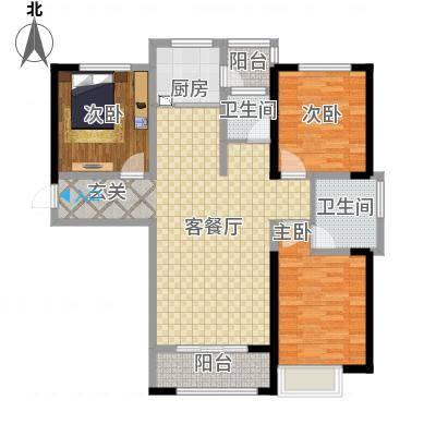 鑫融七里香溪128.73㎡B2户型3室2厅2卫1厨-副本