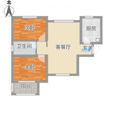 水木清华高层84.80㎡日照户型-副本