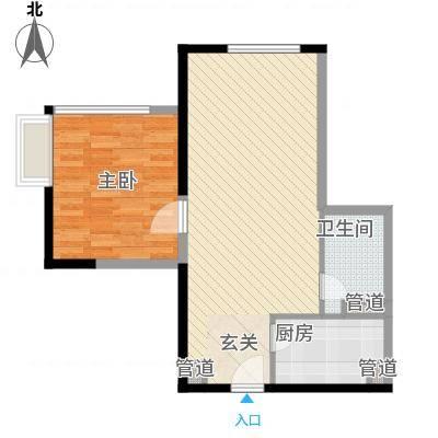 日月光中心伯爵居72.66㎡72.66平米和72.43平米1房2厅1卫户型1室2厅1卫-副本
