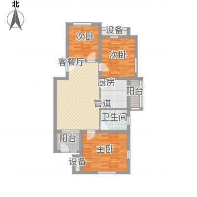 回龙观文化居住区106.85㎡回龙观文化居住区户型图C、E区ⅢH户型3室2厅2卫1厨户型3室2厅2卫