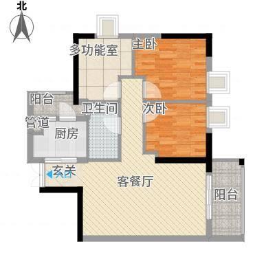 GOGO Park万荟时代户型图1-2栋02户型 3室2厅1卫1厨-副本