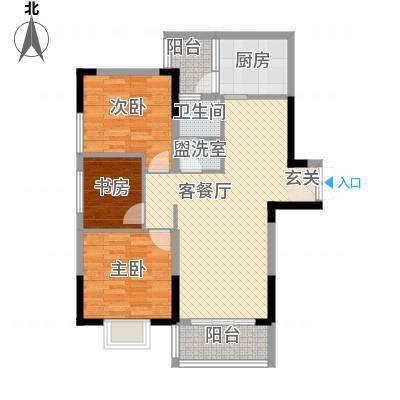 怡景国际34.52㎡三居室户型3室2厅1卫1厨-副本