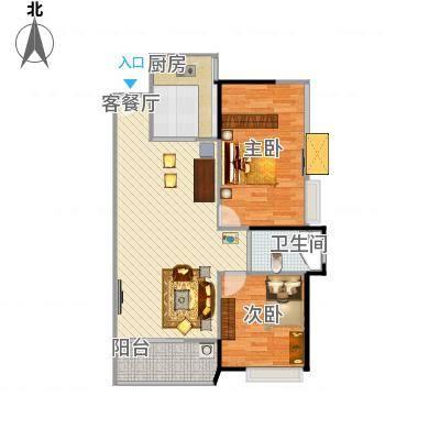 蓝湾C户型三室两厅