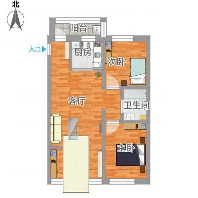 77㎡高层B-3改3室北阳台不拆