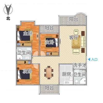 厦门_金同花园电梯142平南北通透3房2厅2卫3阳台
