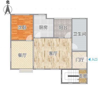 华泽(北京)天都嘉府-花园洋房-中跃A1户型图(一层)