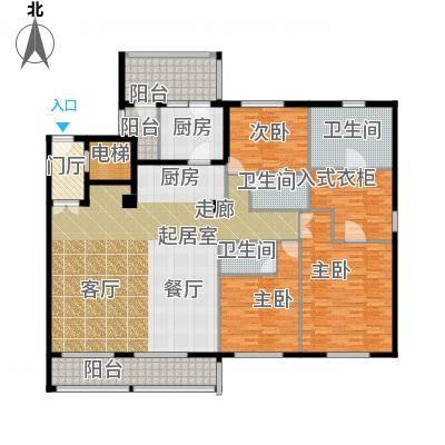 复地御西郊户型3室3卫1厨-副本