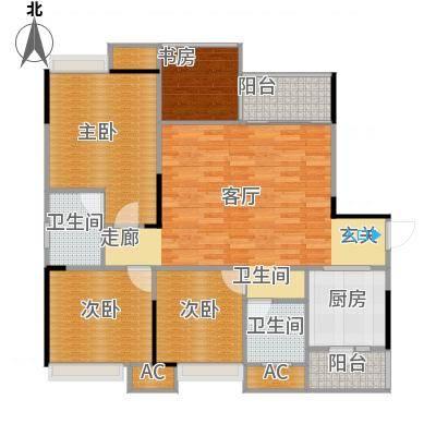 科艺花漾年C1户型三室两厅两卫