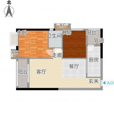 珠光高派89.23㎡05单元2室1面积8923m户型-副本
