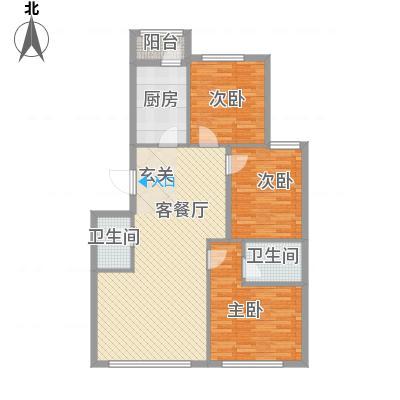 郁花园一里113.00㎡户型3室