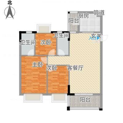 名雅豪庭11.60㎡户型3室2厅2卫1厨-副本