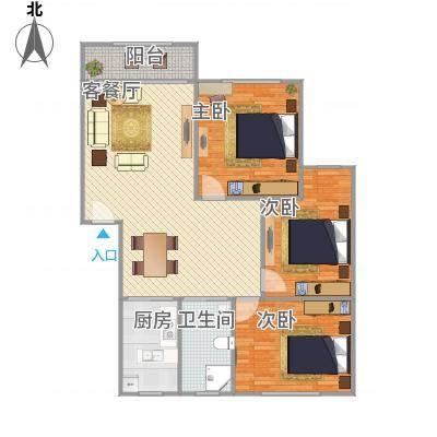 鸿基公寓113平米搜房网马玮绘制18217580681