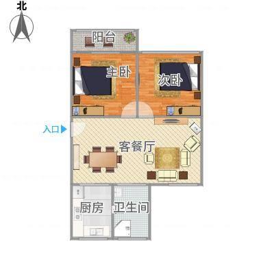 上海_鸿基公寓86平米双南两房两厅