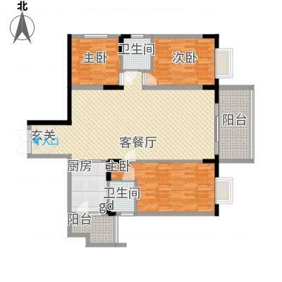 华桂园137.63㎡户型3室-副本