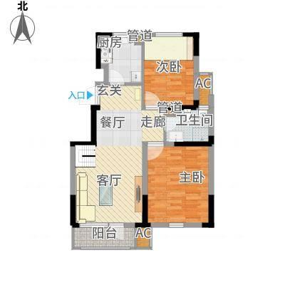 中建幸福城85.00㎡二期洋房标准层户型-副本