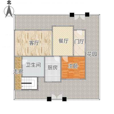 华泽(北京)天都嘉府-花园洋房-底跃A2户型图(地上一层)