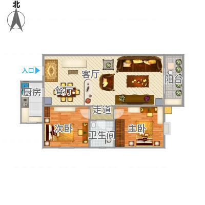 重庆_新城绿园朝中庭两室_2015-12-31-1407
