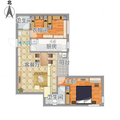 望京西园三区户型2室-副本-副本