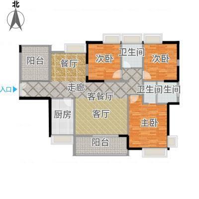 港口国际139.00㎡123栋标准层02户型3室1厅2卫1厨-副本