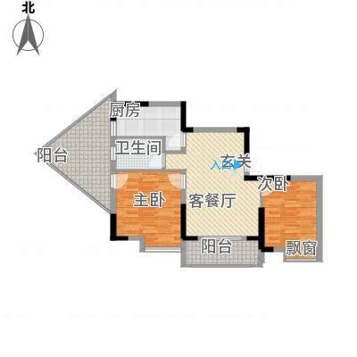 1+8时代广场8.00㎡IMG_20130510_102033户型2室2厅1卫-副本
