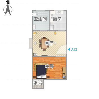 上海_丽泽荷亭苑A3型52.78平方_2015-09-30-1620