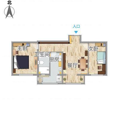 青年公寓第三方案平面图
